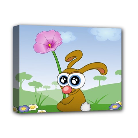 Easter Spring Flowers Happy Deluxe Canvas 14  x 11