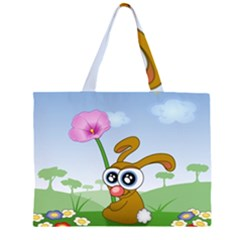 Easter Spring Flowers Happy Large Tote Bag