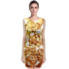Golden crystals Classic Sleeveless Midi Dress
