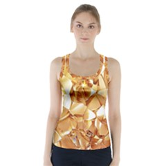 Golden crystals Racer Back Sports Top