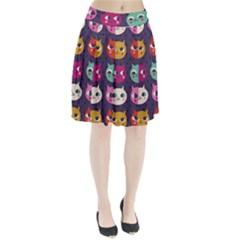 Colorful kitties Pleated Skirt