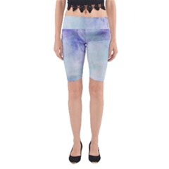 Blue hipster pattern Yoga Cropped Leggings