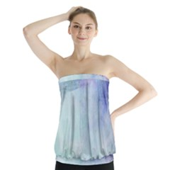 Blue hipster pattern Strapless Top