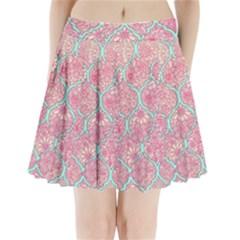 Moroccan flower mosaic Pleated Mini Skirt
