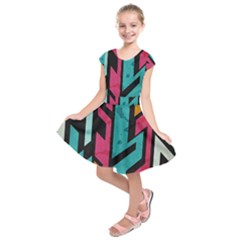 bohemian pattern Kids  Short Sleeve Dress