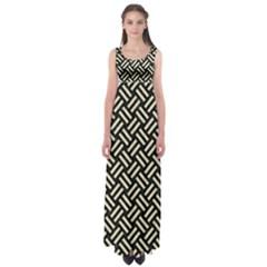 WOV2 BK-MRBL BG-LIN Empire Waist Maxi Dress