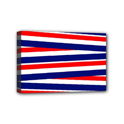 Red White Blue Patriotic Ribbons Mini Canvas 6  X 4