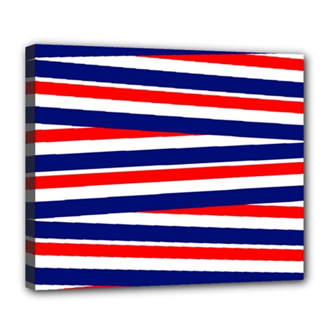 Red White Blue Patriotic Ribbons Deluxe Canvas 24  x 20