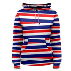 Red White Blue Patriotic Ribbons Women s Pullover Hoodie