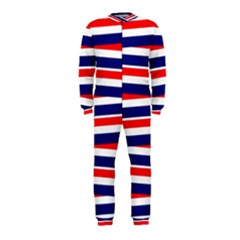 Red White Blue Patriotic Ribbons OnePiece Jumpsuit (Kids)