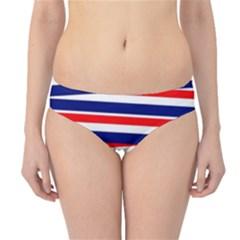 Red White Blue Patriotic Ribbons Hipster Bikini Bottoms