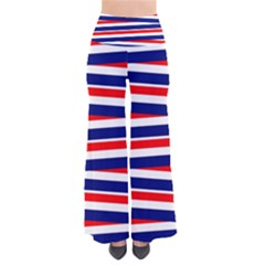 Red White Blue Patriotic Ribbons Pants