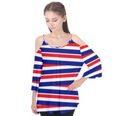Red White Blue Patriotic Ribbons Flutter Tees