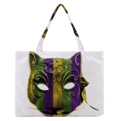 Catwoman Mardi Gras Mask Medium Zipper Tote Bag