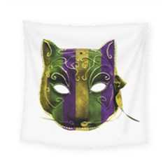 Catwoman Mardi Gras Mask Square Tapestry (small)