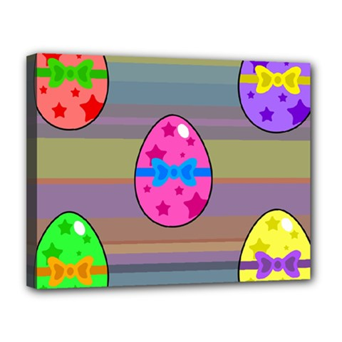Holidays Occasions Easter Eggs Canvas 14  X 11