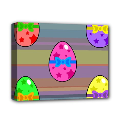 Holidays Occasions Easter Eggs Deluxe Canvas 14  x 11
