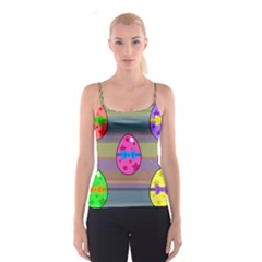 Holidays Occasions Easter Eggs Spaghetti Strap Top