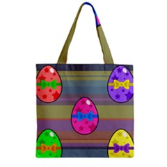 Holidays Occasions Easter Eggs Zipper Grocery Tote Bag