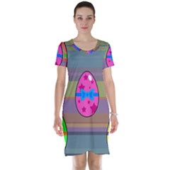 Holidays Occasions Easter Eggs Short Sleeve Nightdress