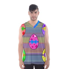 Holidays Occasions Easter Eggs Men s Basketball Tank Top
