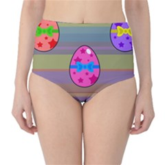 Holidays Occasions Easter Eggs High-Waist Bikini Bottoms