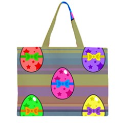 Holidays Occasions Easter Eggs Zipper Large Tote Bag