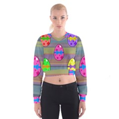 Holidays Occasions Easter Eggs Women s Cropped Sweatshirt