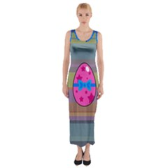 Holidays Occasions Easter Eggs Fitted Maxi Dress