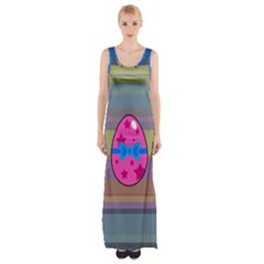 Holidays Occasions Easter Eggs Maxi Thigh Split Dress