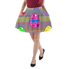 Holidays Occasions Easter Eggs A-Line Pocket Skirt