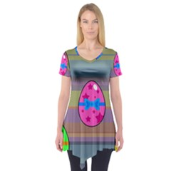 Holidays Occasions Easter Eggs Short Sleeve Tunic