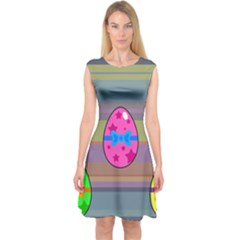 Holidays Occasions Easter Eggs Capsleeve Midi Dress