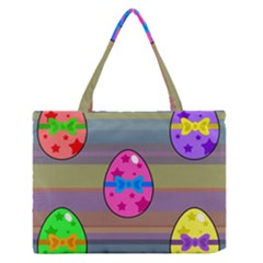 Holidays Occasions Easter Eggs Medium Zipper Tote Bag