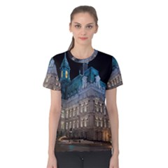 Montreal Quebec Canada Building Women s Cotton Tee