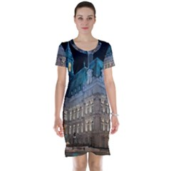 Montreal Quebec Canada Building Short Sleeve Nightdress