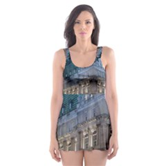 Montreal Quebec Canada Building Skater Dress Swimsuit