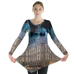 Montreal Quebec Canada Building Long Sleeve Tunic