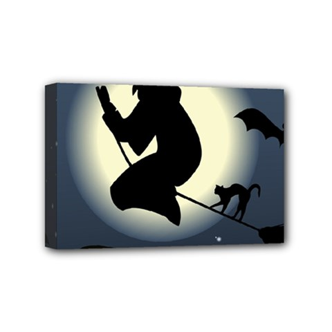 Halloween Card With Witch Vector Clipart Mini Canvas 6  x 4