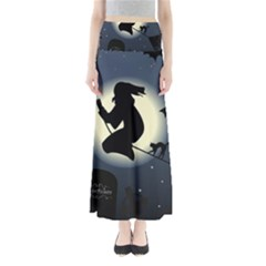 Halloween Card With Witch Vector Clipart Maxi Skirts