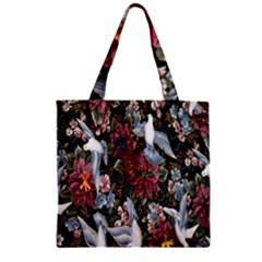 Quilt Zipper Grocery Tote Bag