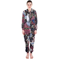 Quilt Hooded Jumpsuit (Ladies)