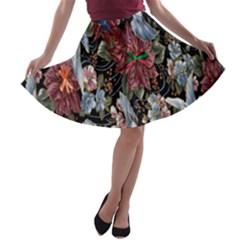 Quilt A-line Skater Skirt