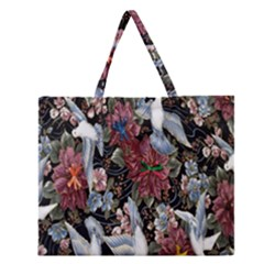 Quilt Zipper Large Tote Bag