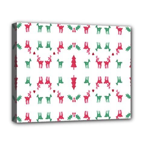 Reindeer Pattern Deluxe Canvas 20  x 16