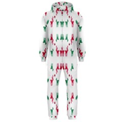 Reindeer Pattern Hooded Jumpsuit (Men)