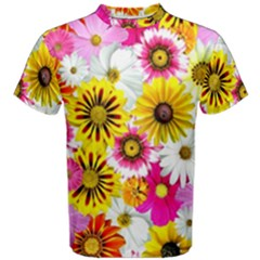 Flowers Blossom Bloom Nature Plant Men s Cotton Tee