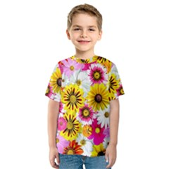 Flowers Blossom Bloom Nature Plant Kids  Sport Mesh Tee