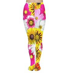 Flowers Blossom Bloom Nature Plant Women s Tights