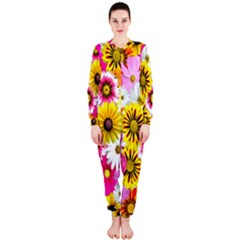 Flowers Blossom Bloom Nature Plant OnePiece Jumpsuit (Ladies)
